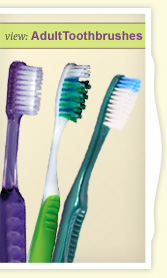 View Adult Toothbrushes.